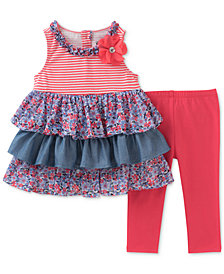 Kids Headquarters 2-Pc. Tunic & Capri Leggings Set, Little Girls