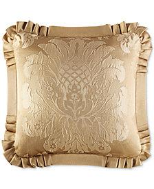 "J Queen New York Concord Gold 20"" Square Decorative Pillow"