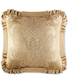 "J Queen New York Concord Gold 20"" Square Decorative Pillow"