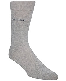 Calvin Klein Men's Giza Cotton Flat Knit Crew Socks