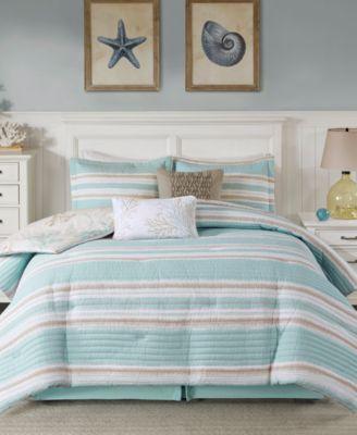 Ocean Reef 6-Pc. Full Quilted Comforter Set