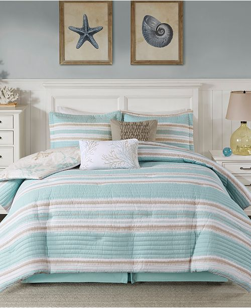 evoke memories of seaside relaxation with the ocean reef reversible bedding collection from harbor house featuring the soft touch of cotton and a colorful - Harbor House Bedding