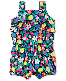 Carter's Toucan-Print Ruffled Cotton Romper, Baby Girls