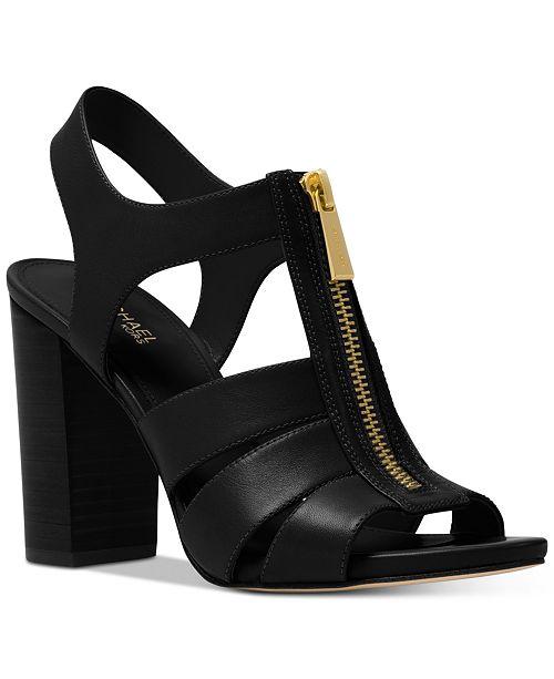 3Y1ngjYOJE Womens Damita Leather Zip High-Heel Sandals 0fVLdBCO