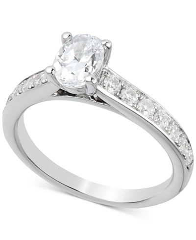 Diamond Oval Engagement Ring (1-1/4 ct. t.w.) in 14k White Gold