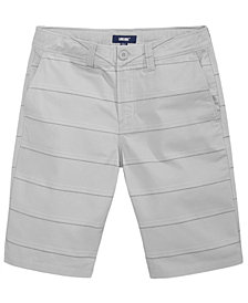 Univibe Enzo Striped Cotton Shorts, Big Boys