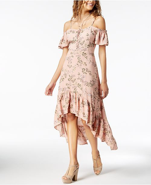 baff1818d83d American Rag Juniors' Ruffled High-Low Maxi Dress, Created for Macy's ...