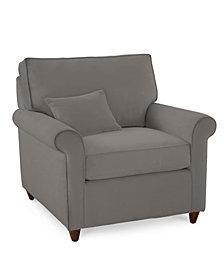 """Lidia 37"""" Fabric Armchair,  Created for Macy's"""