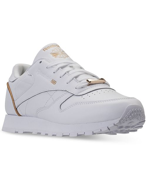 4a86a433c71 ... Reebok Women s Classic Leather HW Casual Sneakers from Finish ...