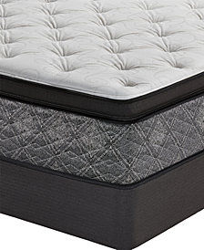 "MacyBed by Serta  Resort 13"" Firm Euro Pillow Top Mattress Set - Twin XL, Created for Macy's"