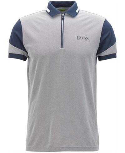 BOSS Men's Regular/Classic-Fit Half-Zip Polo