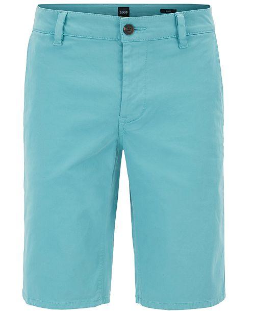 84a266b0 Hugo Boss BOSS Men's Slim-Fit Stretch Chino Shorts - Shorts - Men ...