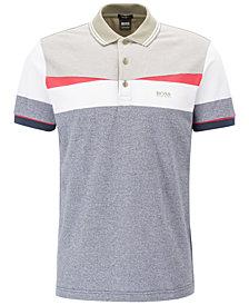 BOSS Men's Regular/Classic-Fit Colorblocked Cotton Polo