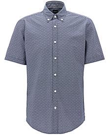 BOSS Men's Regular/Classic-Fit Striped Cotton Sport Shirt