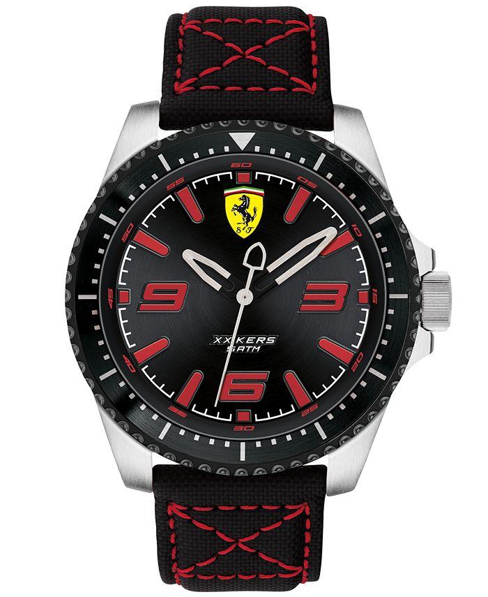 Ferrari - Men's XX Kers Black Nylon Canvas Strap Watch 44mm