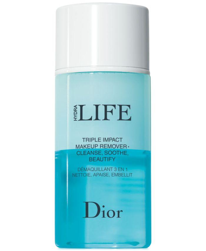 Dior Hydra Life Triple Impact Makeup Remover, 4.25 oz. & Reviews - Makeup - Beauty - Macy's