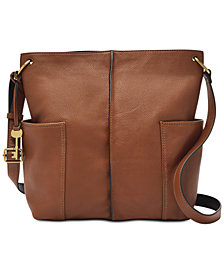 Fossil Lane North South Leather Crossbody