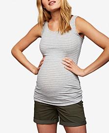 Cuffed Maternity Shorts