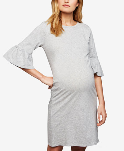 A Pea In The Pod Maternity Bell-Sleeve Dress