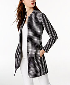 Anne Klein Tweed Topper Jacket