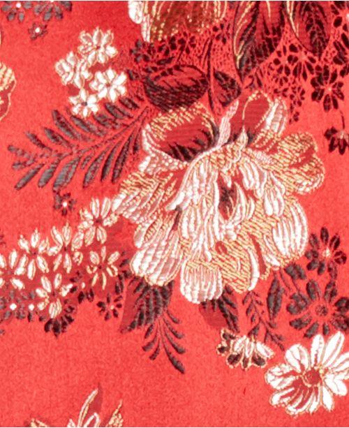 3f143f25b Tallia Orange Men's Slim-Fit Red Floral Embroidered Jacquard Bomber ...