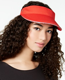 Calvin Klein Textured-Knit Sporty Visor