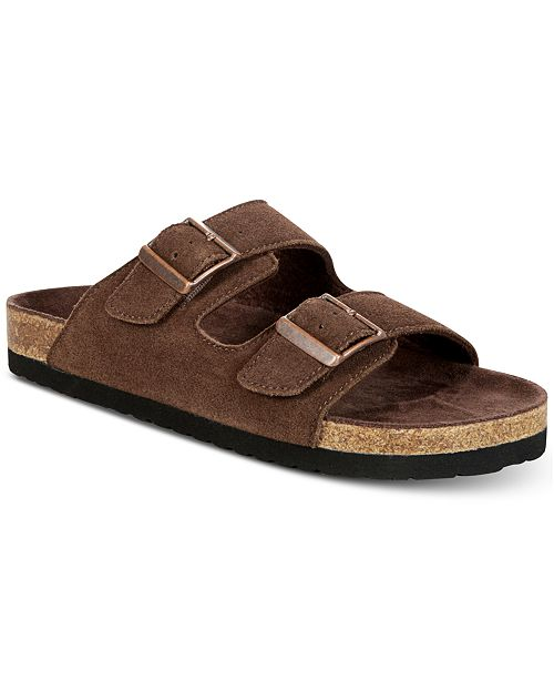 35b8587fbe0520 Dr. Scholl s Men s Fin Suede Slip-On Sandals   Reviews - All Men s ...