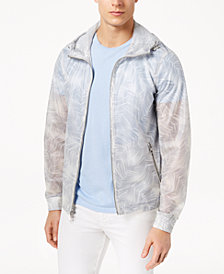 Michael Kors Men's Palm-Print Hooded Windbreaker