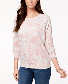 Style & Co Printed Sweatshirt, Created for Macy's