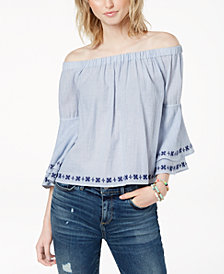 Lucky Brand Cotton Off-The-Shoulder Top