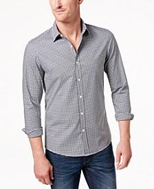 Men's Slim-Fit Trim Stretch Gingham Shirt