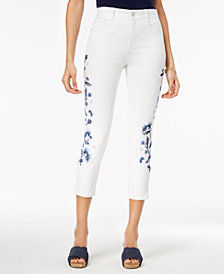 Style & Co Petite Embroidered Slim-Leg Ankle Jeans, Created for Macy's