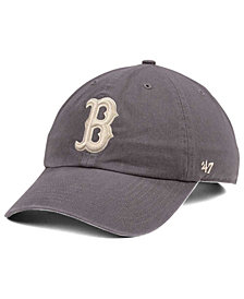 '47 Brand Boston Red Sox Dark Gray CLEAN UP Cap