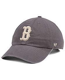 '47 Brand Boston Red Sox Dark Gray CLEAN UP Cap
