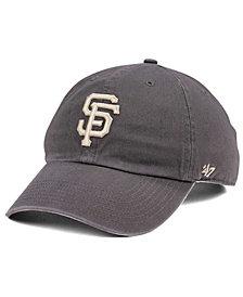 '47 Brand San Francisco Giants Dark Gray CLEAN UP Cap
