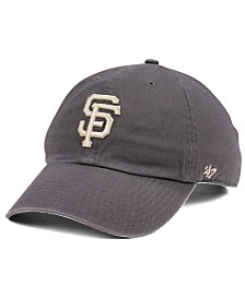 '47 Brand San Francisco Giants Dark Gray CLEAN UP Cap