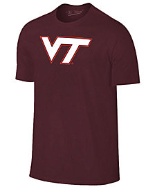 New Agenda Men's Virginia Tech Hokies Big Logo T-Shirt