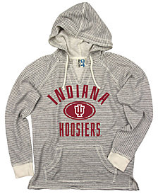 Blue 84 Women's Indiana Hoosiers Striped Terry Hooded Sweatshirt