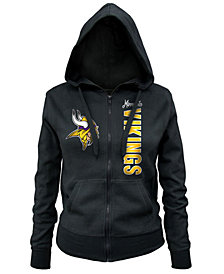 5th & Ocean Minnesota Vikings NFL Women's Full Zip Hoodie