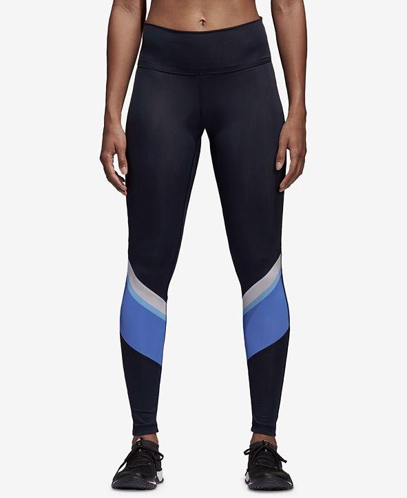 adidas Wanderlust Colorblocked High-Waist Training Leggings
