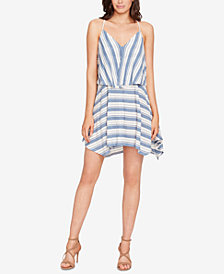WILLIAM RAST Striped Asymmetrical Popover Dress