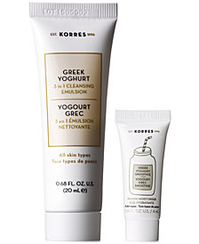 Receive a FREE 2pc Greek Yoghurt Skin Care Gift with $50 KORRES Purchase!