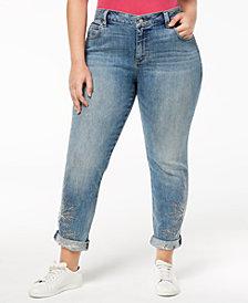 Lucky Brand Trendy Plus Size Boyfriend Jeans
