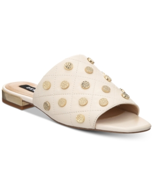 Dkny Roy Flat Slide Sandals,...