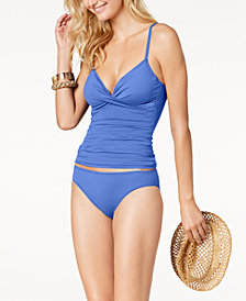 Lauren Ralph Lauren Beach Club Tummy-Control Underwire Tankini Top & Bottoms