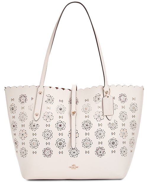 4c5bc47f38 COACH Market Medium Tote with Cut Out Tea Rose   Reviews ...