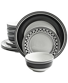 Gibson Classic Melody 12-Pc. Dinnerware Set, Service for 4