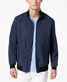 Calvin Klein Men's Insignia Stripe Full-Zip Jacket