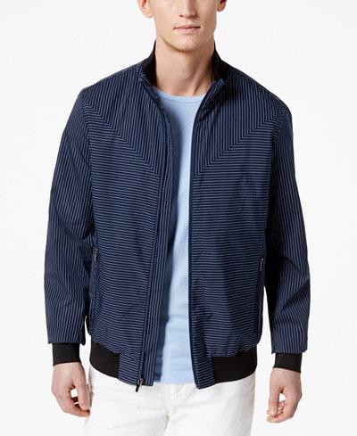 Calvin Klein Men's Insignia Stripe Full-Zip Jacket