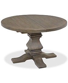 Tristan Round Expandable Dining Table, Created For Macy's